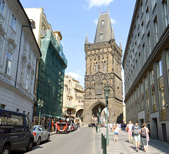 The Tower of Power (Francisco Anzola) Tags: prague czechrepublic czechia tower medieval city entrance