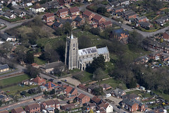 St Mary's Church in Martham - Norfolk UK aerial (John D Fielding) Tags: martham norfolk church churches above aerial nikon d810 hires highresolution hirez highdefinition hidef britainfromtheair britainfromabove skyview aerialimage aerialphotography aerialimagesuk aerialview drone viewfromplane aerialengland britain johnfieldingaerialimages fullformat johnfieldingaerialimage johnfielding
