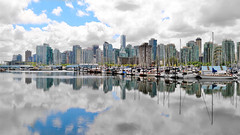 Vancouver Canada (nick123n) Tags: skyline cityscape canada bc colors water sky clouds