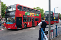 London General E118 (cybertect) Tags: 154 157 163 adlenviro400 carlzeissdistagont35mmf28mm doe19 e118 goaheadlondon lx09fbk lx58cxj londongeneral londonbus morden optareolympus sonya7ii t114 bus doubledecker terminus