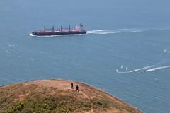 Big Ship and people (9spades) Tags: ship san francisco goldengate california
