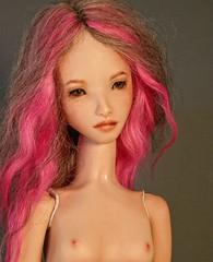 Pink Cloud (updated) (Tiny Shirt) Tags: porcelainbjd porcelaindoll artdoll pinkcloud pinkhair tinyshirtdoll bjd