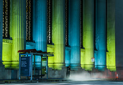 have you found your place in the world? (pbo31) Tags: bayarea california nikon d810 color june 2018 boury pbo31 sanfrancisco city financialdistrict urban night dark black roadway street bank wash pressure power green californiastreet