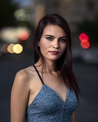 Ariel downtown (Mitch Tillison Photography) Tags: beautiful stunning lovely gorgeous woman female model urban downtown night bokeh traffic nikon mitchtillison photo photography shootstrobe godox flashpoint 600 flickrsbest