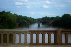 Rappahannock Bridges (photo_secessionist) Tags: river bridge bridges railway highway centre middle rappahannockriver fredericksburg virginia colour water landscape arches kmount pentax quantarayf45670300mmlens k3