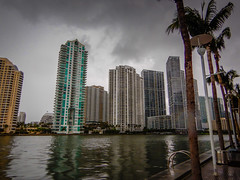 Condominium Towers along Miami River - Miami FL (mbell1975) Tags: miami florida unitedstates us condominium towers along river fl fla biscayne bay water atlantic ocean inlet condo office building buildings condos tower apartment apartments overcast clouds cloudy rainy