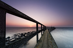 Framed Sunrise (Johan Konz) Tags: sunrise water waterscape seascape jetty pier frame edam waterland netherlands outdoor le longexposure nikon d7500 sea sky pastel pink depth coast shore bay