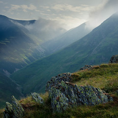 From Rannerdale Knotts (pedalpusher139) Tags: lakedistrict cumbria buttermere crummockwater mountains mountain fells lakeland outdoors landscapes landscapephotography rannerdaleknotts morninglight haze clouds