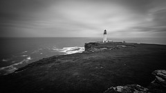 Overlooking (MBDGE Over 1.2Million Views) Tags: orkney noup head lighthouse longexposure mono blackandwhite atlantic grass cloud overlooking wind shower