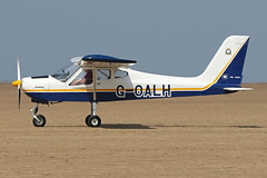 G-OALH (QSY on-route) Tags: goalh lancashire landing 2018 fly in knott end beach airfield 09062018