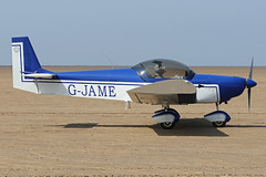 G-JAME (QSY on-route) Tags: gjame lancashire landing 2018 fly in knott end beach airfield 09062018