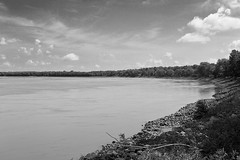DMAFR Day 3 (4) (momentspause) Tags: mississippiriver roadtrip river blackandwhite bw canon5dmkiii canonef50mmf18 riverbank