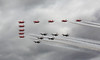 Combined flypast (Treflyn) Tags: under stormy skies sky cloud raf redarrows usaf thunderbirds display team perform joint flypast fairford celebrate 70th anniversary formation 2017 royal international air tattoo force riat