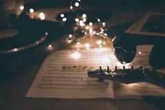Music (Vegajuls) Tags: music musica disc guitar guitarra bokeh luz luces light partitura suave soft inspiration time tocadiscos