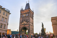 Charles Bridge, Prague (T is for traveler) Tags: travel traveling traveler tisfortraveler exploration backpacker digitalnomad europe prague czech republic city cityscape sky canon 700d 1855mm charles bridge architecture gothic tower people sunset
