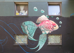 Brick Lane street art - Meeting of Styles work in progress (Gordon.A) Tags: london londonstreetart brick lane shoreditch streetart art artwork graffiti mural streetphotography