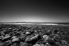 Near and Far (sleepnever) Tags: rocks beach sea ocean waves mountains olympics horizon blackandwhite bw 2470l leebigstopper robertwatts