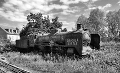 It's Black And White, Don't Try To Hide (R~P~M) Tags: train railway steam locomotive ongar eppingongarrailway madness abandoned disused derelict rusty essex england uk unitedkingdom greatbritain