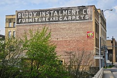 Ruddy Instalment Co., Fairmont, WV (Robby Virus) Tags: fairmont westvirginia wv tj ruddy instalment co company ghost sign signage painted wall brick ad advertisement furniture carpets
