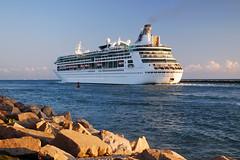 Rock Jetty Enchantment (Infinity & Beyond Photography: Kev Cook) Tags: royalcaribbean enchantmentoftheseas cruise ship ocean liner rockjetty port miami governmentcut boats