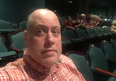Day 2327: Day 137: Audience (knoopie) Tags: 2018 may iphone picturemail hairspray villagetheatre theater doug knoop knoopie me selfportrait 365days 365daysyear7 year7 365more day2327 day137