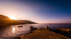 boats (K.H.Reichert [ not explored ]) Tags: boot boote küste sonnenuntergang boats sea himmel ocean malta sky wasser rocks sunset gozo boat felsen coast meer daħletqorrot