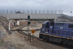 Westbound 4843 at Wang (highplains68) Tags: aus australia nsw newsouthwales rail railroad railway mainwest westernline ssr 4843 southernshorthaulrailroad c505 c509 c506 c504