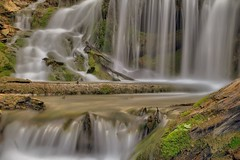 Cascading (Note-ables by Lynn) Tags: waterfall cascading greycounty water slowshutter