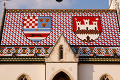 Close up of a cool roof (J.R. Rondeau) Tags: rondeau italy croatia zagreb stmarkschurch roof rooftops sjet sjet2018 colours colors canoneos tamron2875 photoshopelements10 mariden