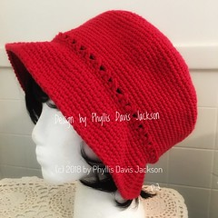 Really Red Hat Ready. (Jack4Phil) Tags: original wearable red hat crochet