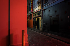 Melbourne Lanes 2 (WayneG58) Tags: lane melbourne chinatown red ramen restaurant street cobbles long exposure longexposure morning