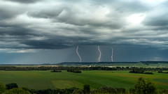 In 2 minutes (ZeGaby) Tags: pentaxk1 pentax2470mm landscape paysagesdechampagne paysage thunderstorm storm orage foudre eclairs vignobles vineyards champagne marne