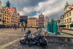 In the old town square (Vagelis Pikoulas) Tags: wroclaw poland europe square architecture travel 2018 may 2017 bike tokina 1628mm canon 6d city cityscape landscape urban
