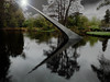 Going Into the Light (Steve Taylor (Photography)) Tags: goingintothelight art sculpture stairs steps dark light up newzealand nz southisland canterbury christchurch hagleypark park concrete lake reflection stormy botanicgardens davidmccracken diminishandascend staircase scape