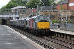 "37884 ""Cepheus"" + 320304 5T07 13:00 Glasgow Works to Shields T.M.D. (E); Springburn; 16-06-2018 (graeme8665) Tags: railoperationsgroup abellioscotrail scotrail springburn"