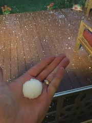 June 18, 2018 - Massive hail in Thornton. (Jay Winkelhake)