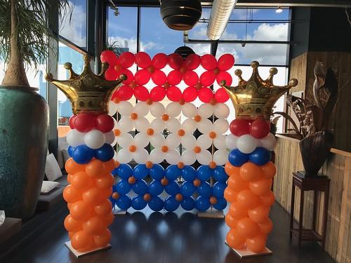 Ballonpilaar Breed Koningsdag Watertuin Spijkenisse