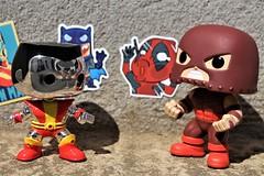 fight! (notatoy) Tags: funko pop marvel deadpool juggernaut colossus figures toys