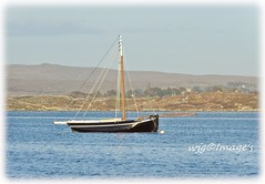 Galway Hooker. (willieguildea) Tags: boat vessel galwayhooker water waterscape sea land landscape coast coastal coastalireland nikon seaside sky clouds galway ireland eire bay