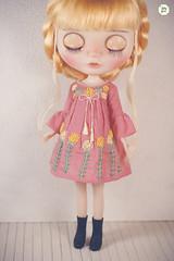Handmade Embroidered Dresses (Ylang Garden) Tags: blythe dress embroidery embroidered