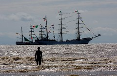 Lone Watcher (teltone) Tags: sefton waterloo crosby burbobank tallships festival bankholiday people celebration marina beach music stalls candid food 2018 maritime sailing
