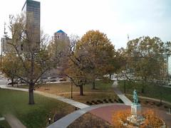 11-11-17 Dayton 28 (Chicagoan in Ohio) Tags: dayton clouds sun sunhalo leaves fallcolor