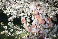 """TEATRONATURA """"Ethereal solstice flower"""" (valeriafoglia) Tags: model makeup magic art atmosphere amazing stylist spirit soft solstice fantasy fairy face flowers photography photo pretty portrait beautiful beauty white wood spring bloom nature nymph"""