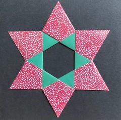 More origami -Star (anuradhadeacon-varma) Tags: zoëstar zoestar mariasinayskaya papercrafts paperwork greetingscard paperfolding origami star origamistar
