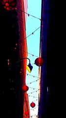 Fan Tan Alley (SqueakyMarmot) Tags: canada britishcolumbia bc vancouverisland victoria chinatown fantanalley heritage sky lighting