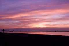 Dusk run (ColmDub) Tags: dusk jogger dublinport sunset pastels liffey silhouette