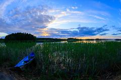 Blue boat (Antti Tassberg) Tags: kesä 15mm landscape pitkäjärvi pilvi laaksolahti vene espoo järvi fisheye boat cloud lake prime