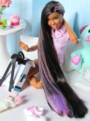 Long Hair Don't Care (back2s0ul) Tags: barbie endless hair kingdom aa black snap n style princess nikki