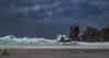 Battle of the elements (Impact Imagz) Tags: dalmore dalmorebeach isleoflewis westernisles outerhebrides hebrides hebrideanseascapes seascape hebridean scotland stormhector storm weather cloudsstormssunsetssunrises sea waves rocks rockformations seastacks canon