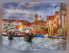 """Street"" photography.... (Sherrianne100) Tags: painterly colorful canals gondola venice italy"